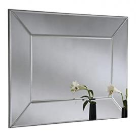 Yearn Modern Angled Glass Mirror, 76 x 102 cm, Silver