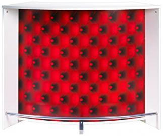 Simmob snack134bl922Bar Counter/White Melamine Wood Panel 104.8x 55.3x 134,5cm