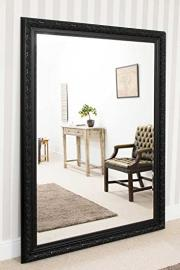 Extra Large Black Classic Elegant Bevelled Resin Mirror