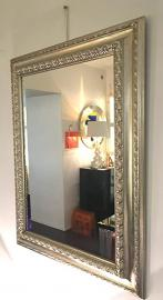 Wall Mirror with Wooden Frame 90 x 70 cm Unique Handmade