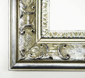Wall Mirror Mirror – Chateau Silver 7.3 – of the Mirror Glass 60 x 130 cm – Real Wood