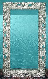 Frame for Square Wall Mirror Silver Plated 50 x 70 cm