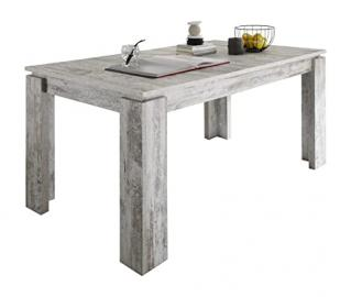 Furnline Shabby Chic Vintage Retro Canyon Pine Extendable Dining Table, White