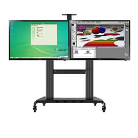 """North Bayou Universal Heavy Duty Mobile TV Cart TV Stand AVT1800-60-2A-BLK for for Dual Displays 40-60"""" and 300lbs"""
