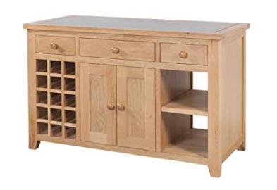 Devonshire Oak Granite Kitchen Island Solid Oak Fully Assembled