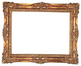 Frame for Square Wall Mirror Gold-Leaf Decoration