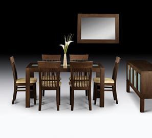 Julian Bowen Santiago Dining Table, Dark Wood