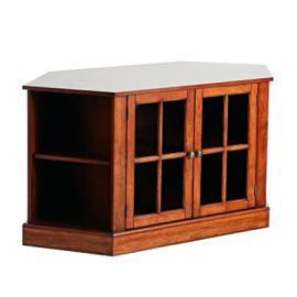 Wood Thomas Walnut Corner Media Stand, Walnut