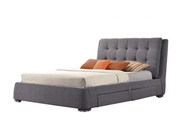 Birlea Mayfair 4-Drawer Bed - Fabric, Grey, King Size