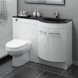 1200 mm White Vanity Unit Countertop Basin + Toilet Bathroom Furniture MV1623