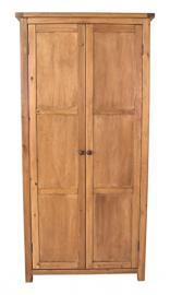 Cabinet Bits 2-Door Wardrobe without Skirt, Wood, Brown