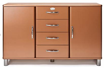 Tenzo MALIBU Deluxe Designer Sideboard, 92 x 146 x 41 cm, Copper