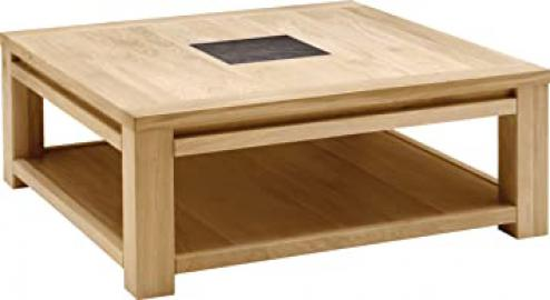 Oak Square Coffee Table, Natural Ceramic