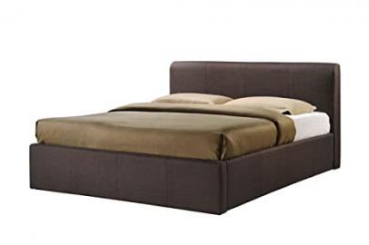Birlea Brooklyn 4ft6 Double Fabric Ottoman Bed, Chocolate