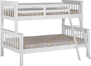 Seconique Neptune Triple Sleeper Bunk Bed - White