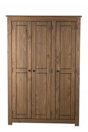 Birlea Santiago 3-Door Wardrobe, Waxed Pine
