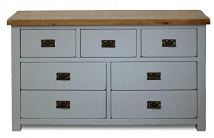 Birlea New Hampshire 3 Over 4 Chest- Wood, Grey and Oak