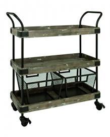 HAKU Furniture 27909 trolley black-vintage, W: 86 x D: 34 x H: 96 cm