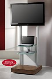"""VCM """"Monte-Visolo 3"""" TV Stand with 2-Shelves, Black Glass"""