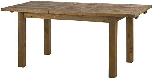 Julian Bowen Aspen Rough Sawn Extending Dining Table, Wood, Reclaimed Pine