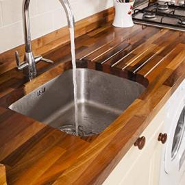 Solid Walnut Timber Block Worktops 3000mm x 620mm x 40mm