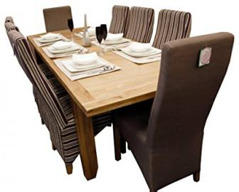 BALMORAL Natural Oak Large 3 Size (180 / 210 / 240 cm) Extending Dining Table