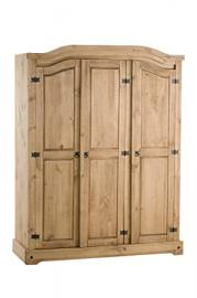 Birlea Corona 3-Door Wardrobe - Waxed Pine