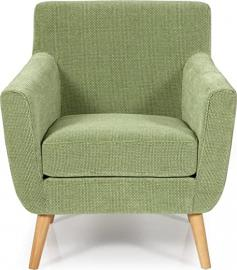 Serene Kelso Retro Occasion Armchair Upholstered Fabric | Green