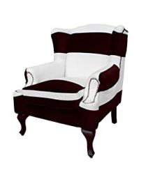 Fashion In Italy Armchair Sheila White/Black