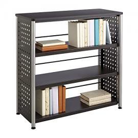 Safco 1602BL Scoot 3 Shelf Bookcase - Black