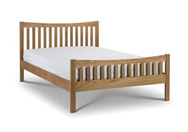 Julian Bowen Bergamo Bed, Wood, Solid Oak, 135 cm, Double