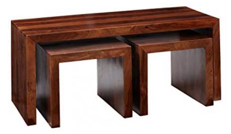 CL38 Vera Range - Sheesham Long John Coffee Table - Deep Honey - Solid Indian Sheesham Hardwood