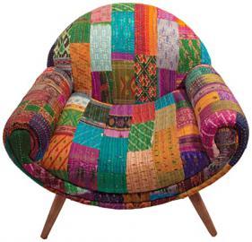Ian Snow Retro Kantha Nest chair