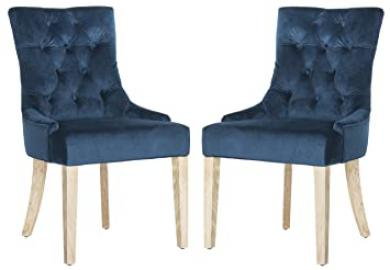 Safavieh Elise Dining Chair, Wood, Navy, Set of 2
