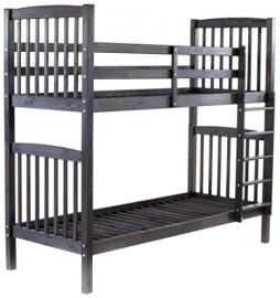 Ambientehome Bunk Bed Sweden Solid Wood Grey 213x98,5x190 cm Very Stable. Can be used as 2 single beds.