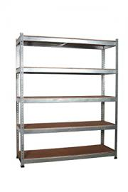 FoxHunter 3 x 5 Tier Galvanised Super Strong Heavy Duty Metal Shelving Racking 1870H 1500W 500D 300kg Capacity Per Shelf For Garage Workshop Warehouse Shed Storage