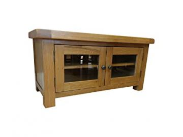 Kingsford Chunky Oak Standard TV Unit with Glazed Doors