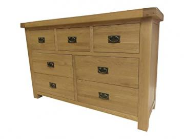 Kingsford Chunky Oak 3 Over 4 Drawer Chest of Drawers