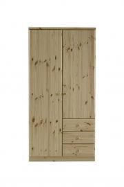 Steens Robe 2-Door 3-Drawer Natural Finish, Naural Pine