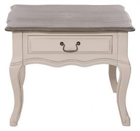 Mauro Ferretti St Etienne Coffee Table, 60 x 63 cm x 50 cm Drawer 2 Sided-Wood-Beige