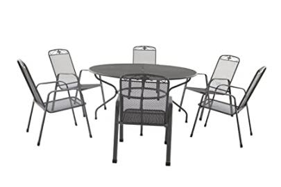 Royalcraft 150 cm 6 Seater Round Savoy Table Set and with Stacking Savoy Chairs