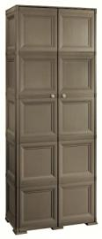 Tontarelli 8085556909 Omnimodus Ten Compartment Storage Unit, 79 x 43 x 203 cm, Chocolate