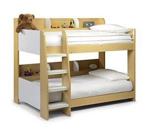 Julian Bowen Domino Single Bunk Bed, White/Maple
