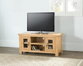 VALENCIA SOLID CHUNKY OAK LARGE WIDESCREEN TV LCD PLASMA CABINET STAND UNIT