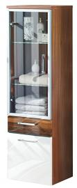 Posseik 5815 91 Tall Hanging Cabinet Walnut Decor, High Gloss White