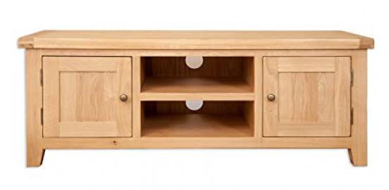 Melbourne Natural Range Solid Golden Oak Plasma Lcd Tv Cabinet (Oaklands Furniture)