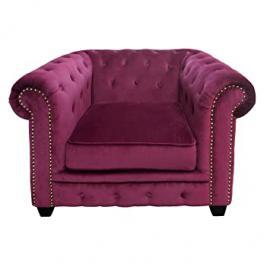 Premier Housewares Regents Park Chesterfield Chair - Damson