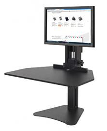 "Victor DC300 High Rise Collection Sit-Stand Desk Converter, 28"" x 23"" x 15.5"", Black (VICDC300)"