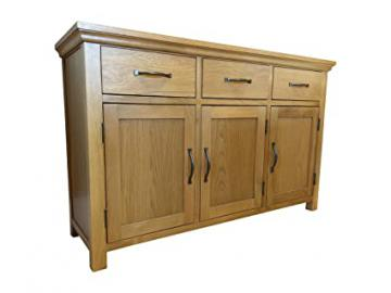 Toronto Modern Light Oak 3 Door 3 Drawer Sideboard