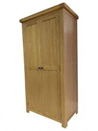 Kingsford Chunky Oak 2 Door Wardrobe - Assembled at No Extra Cost!